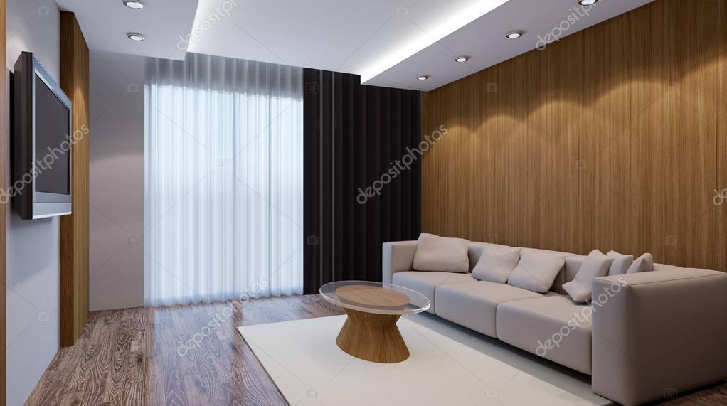 3d Woonkamer Ontwerpen : Recreatieruimte ontwerp interieur van de woonkamer d render
