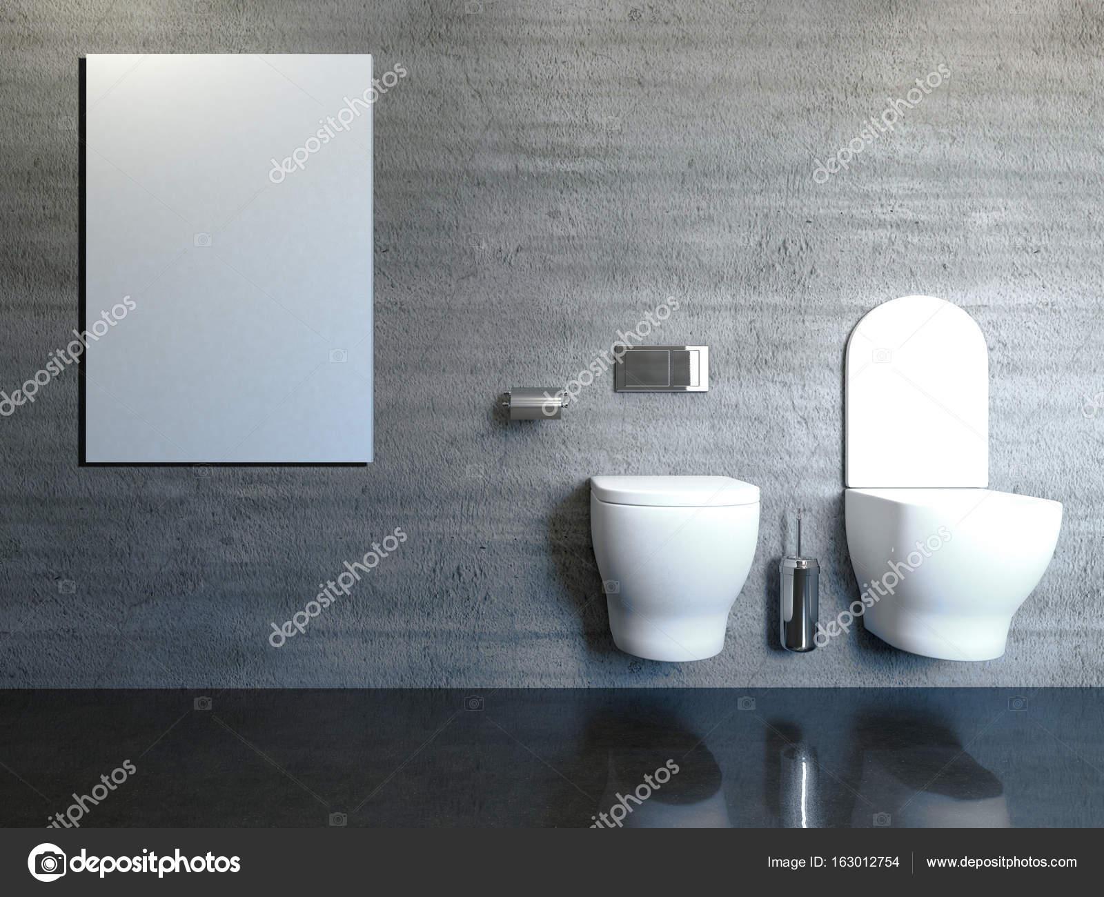 Betonnen Badkamer Muur : Moderne badkamer met betonnen muur d rendering u stockfoto