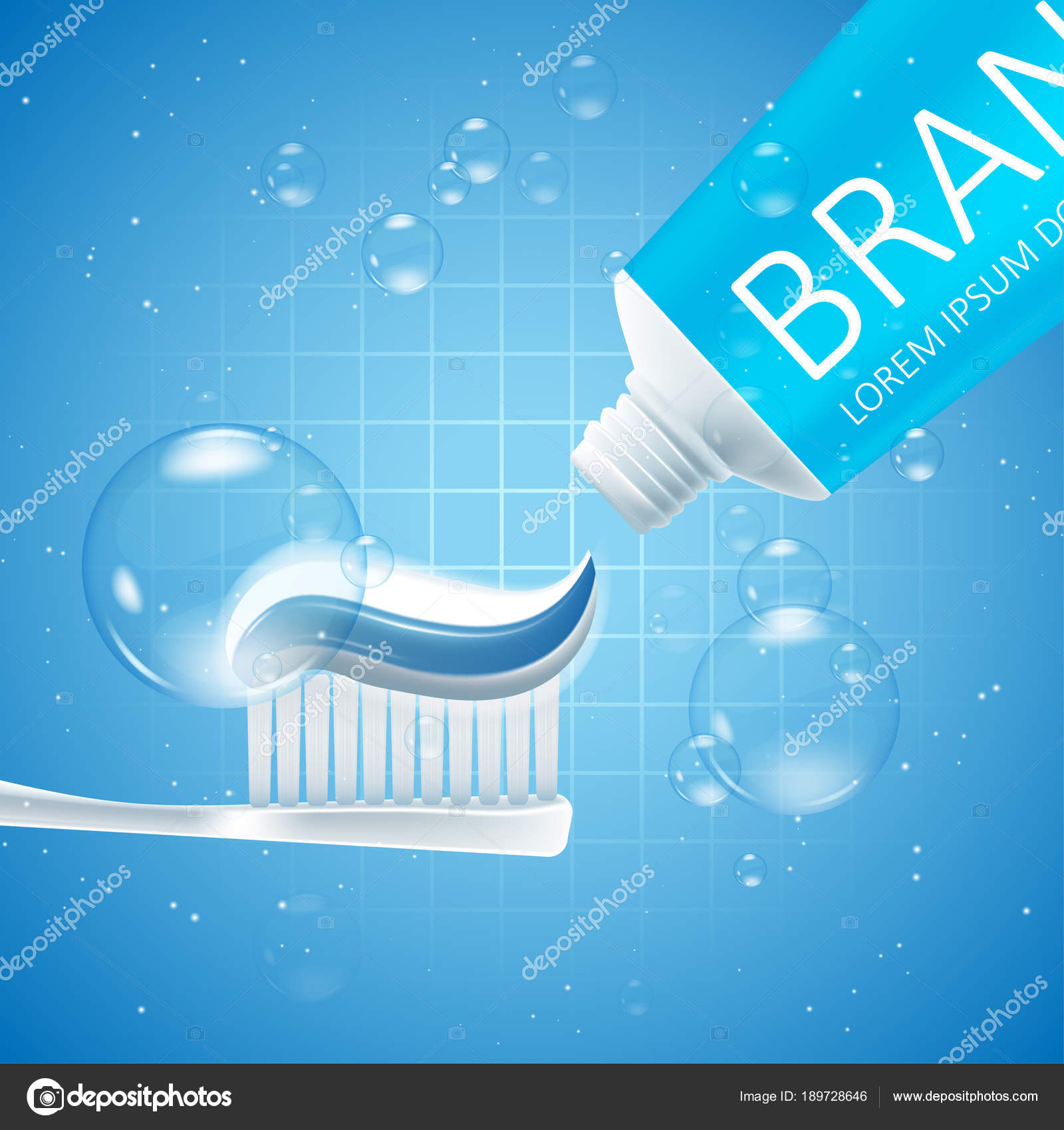 Anuncios De Creme Dental Clareador Vetor De Stock C Majcot 189728646