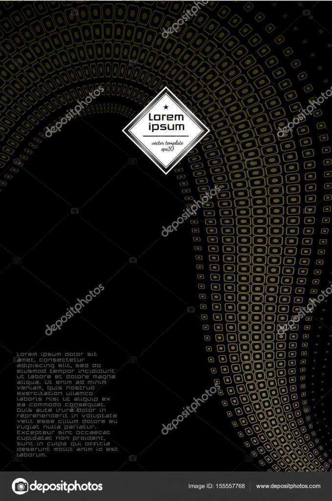Broschüre Design-Vektor-Vorlage im A4-Format. Jahresbericht ...