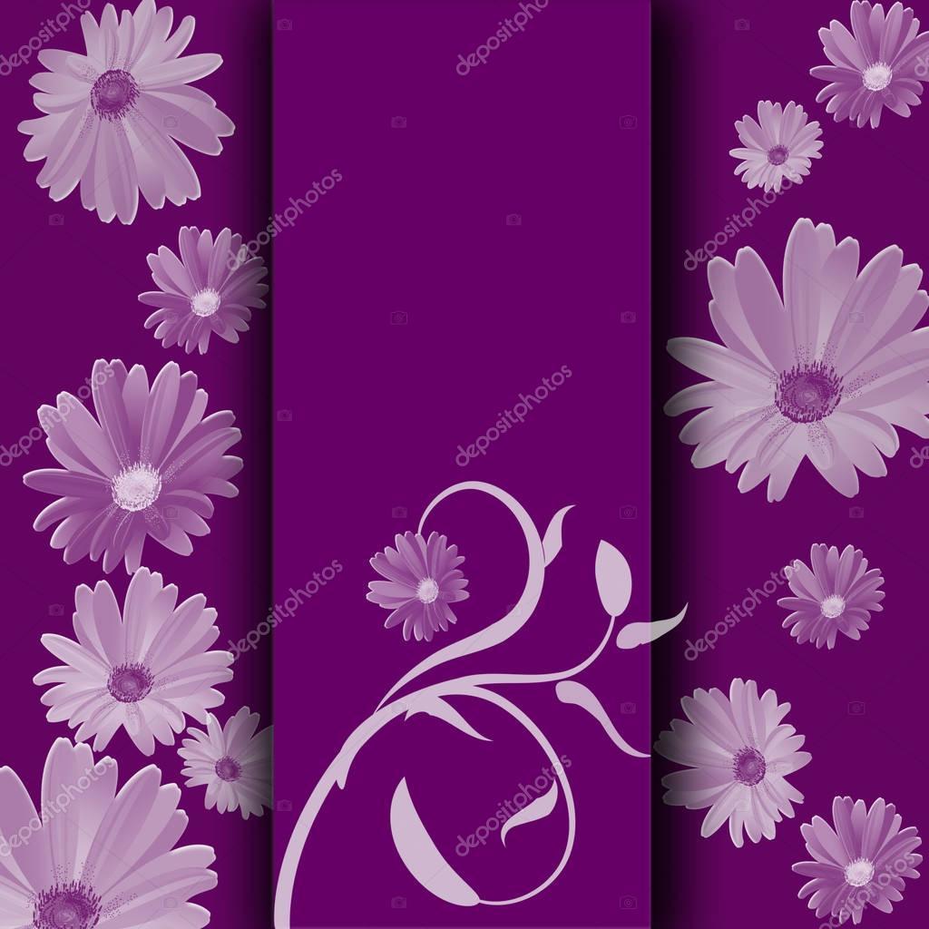 Purple Background With White Flowers Stock Photo Jimny 129259466