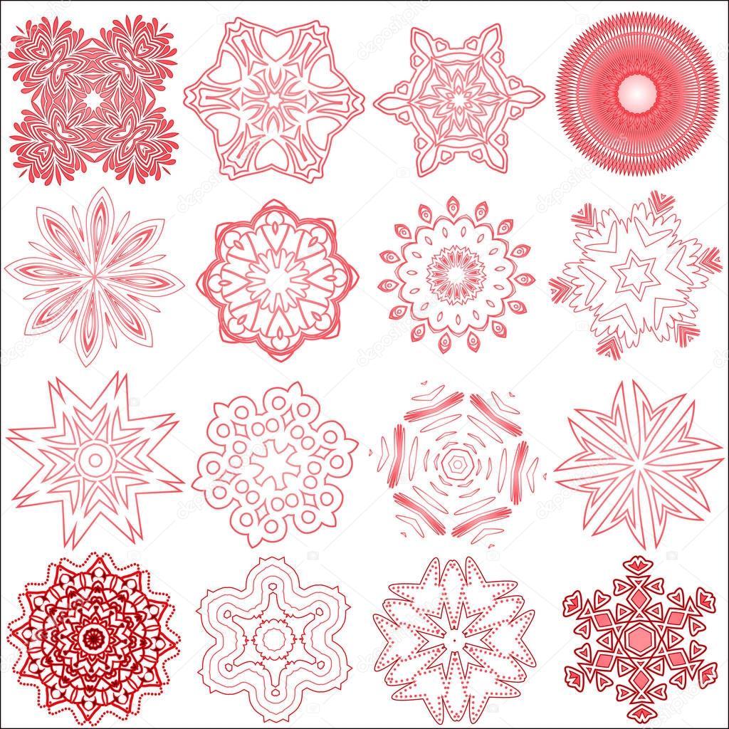Zestaw Płatki śniegu Tatuaż Zdjęcie Stockowe Jimny