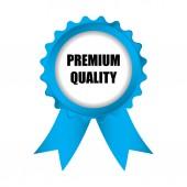 Zvláštní prémie kvalitní modrý odznak se stuhami, vektor Rozmr