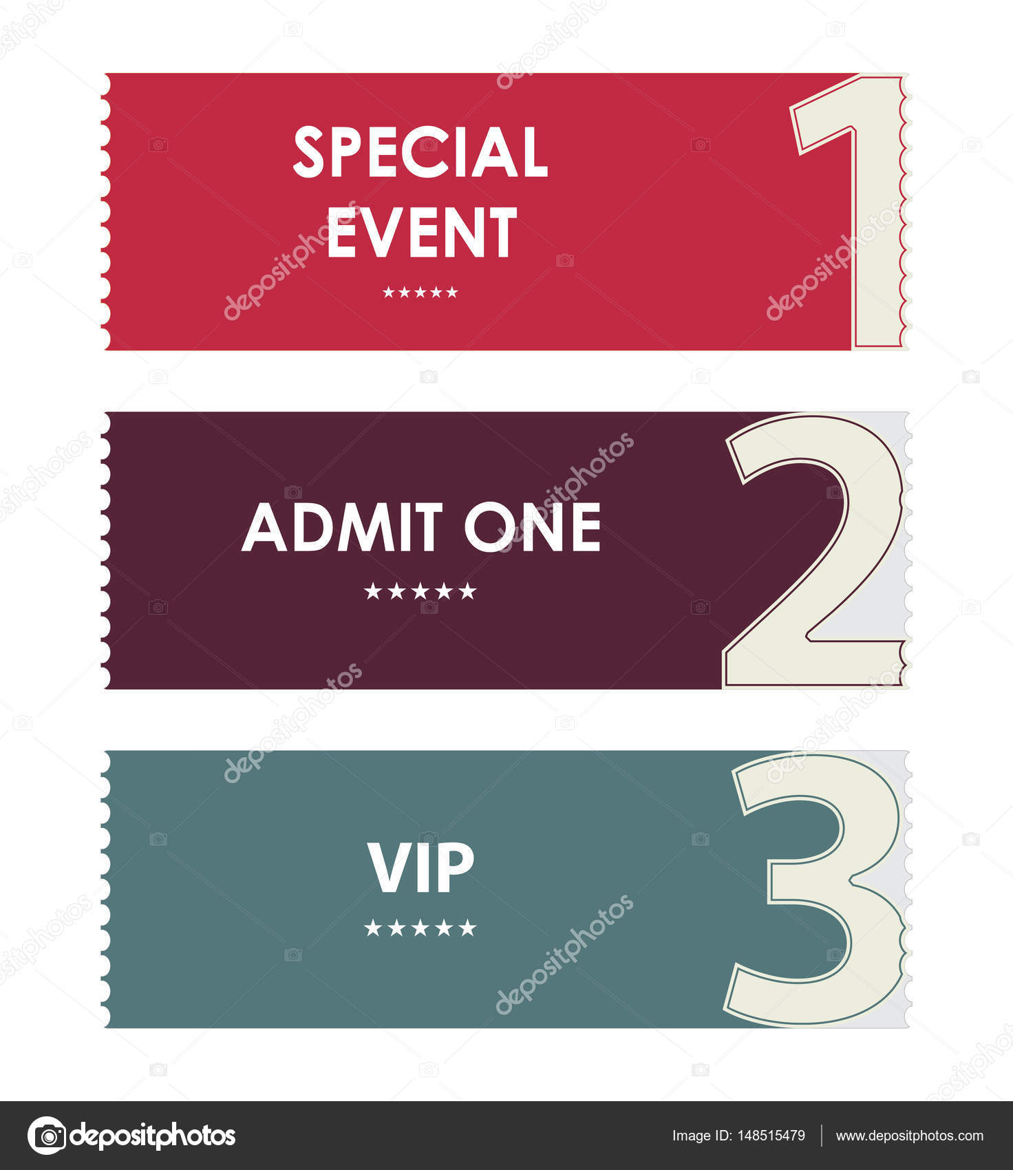 special modern ticket template, event ticket, admit one — Stock ...