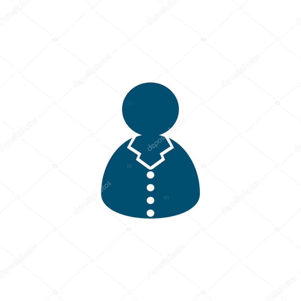 customer support icon, special flat callcenter operator