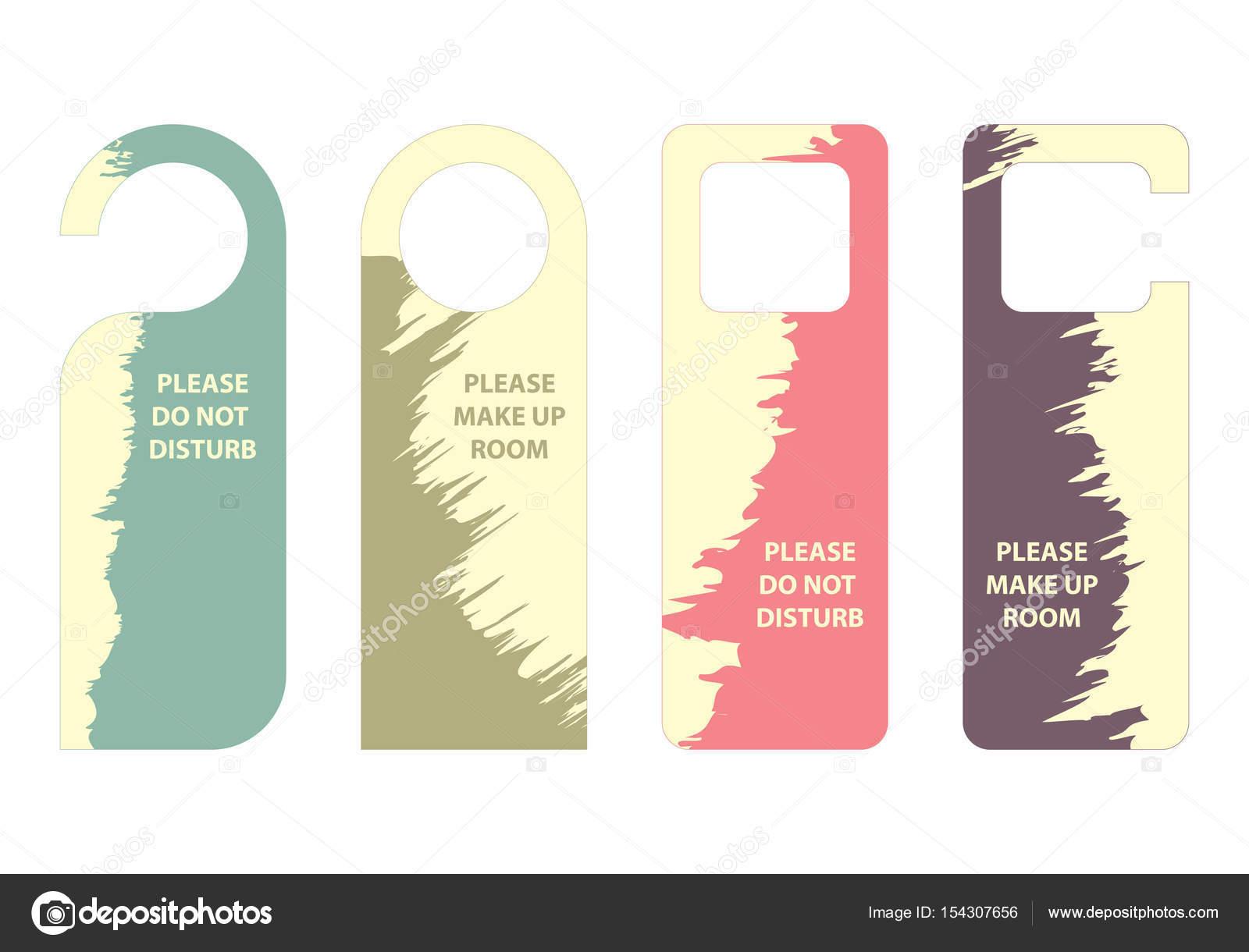 please do not disturb door hanger stock vector place4design