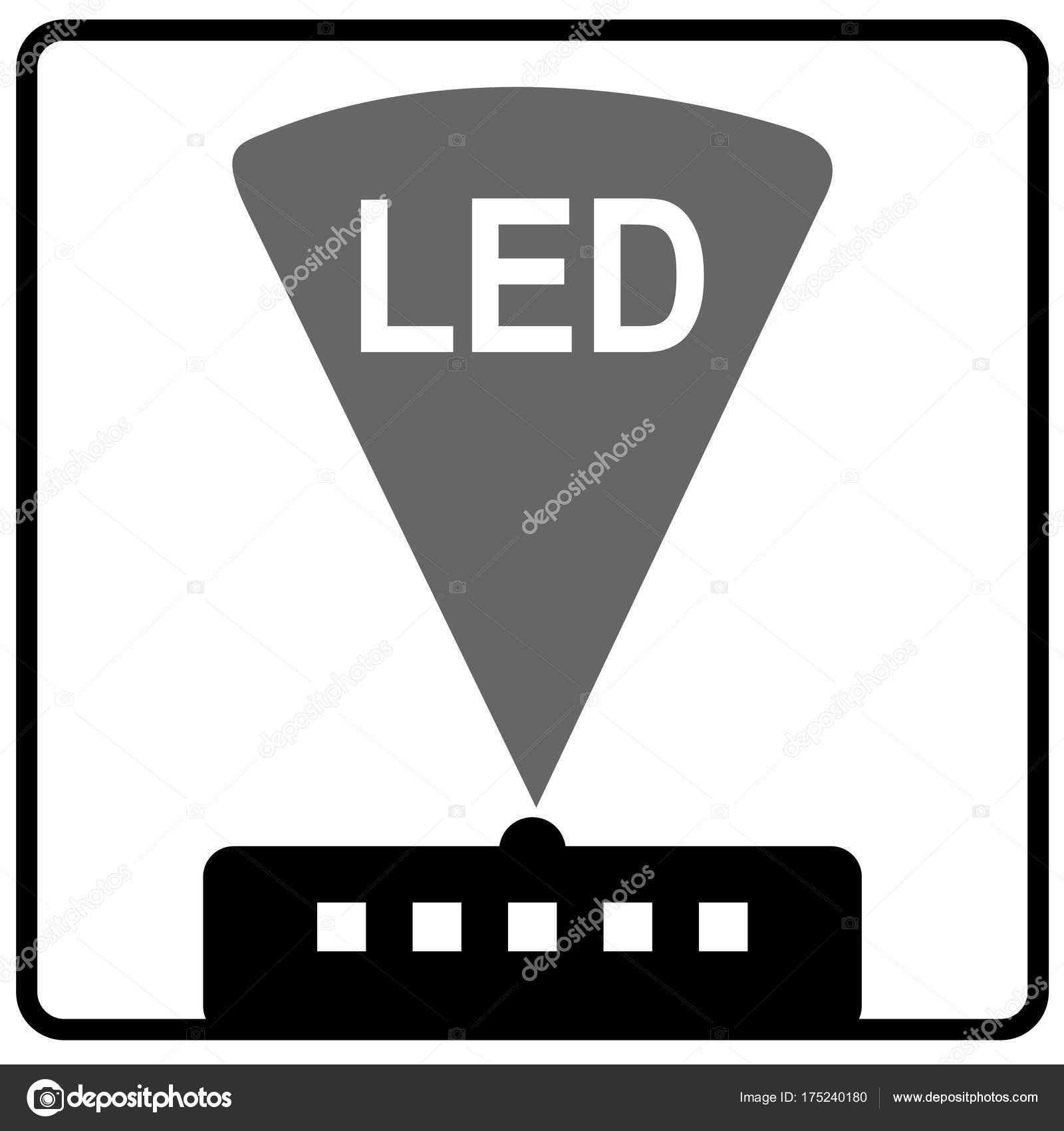 symbol of light emitting diode images meaning of text