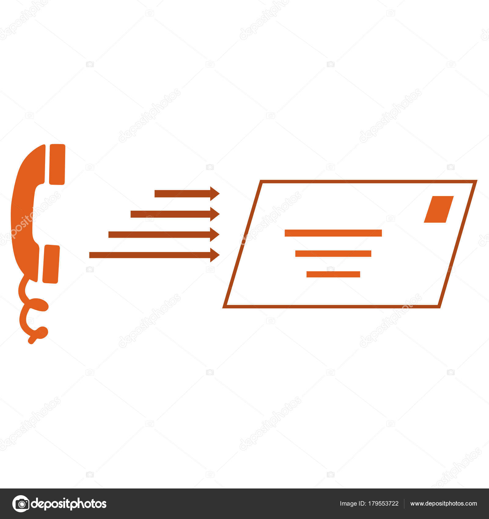 Telephone Letter Symbols Contact Concept Stock Vector