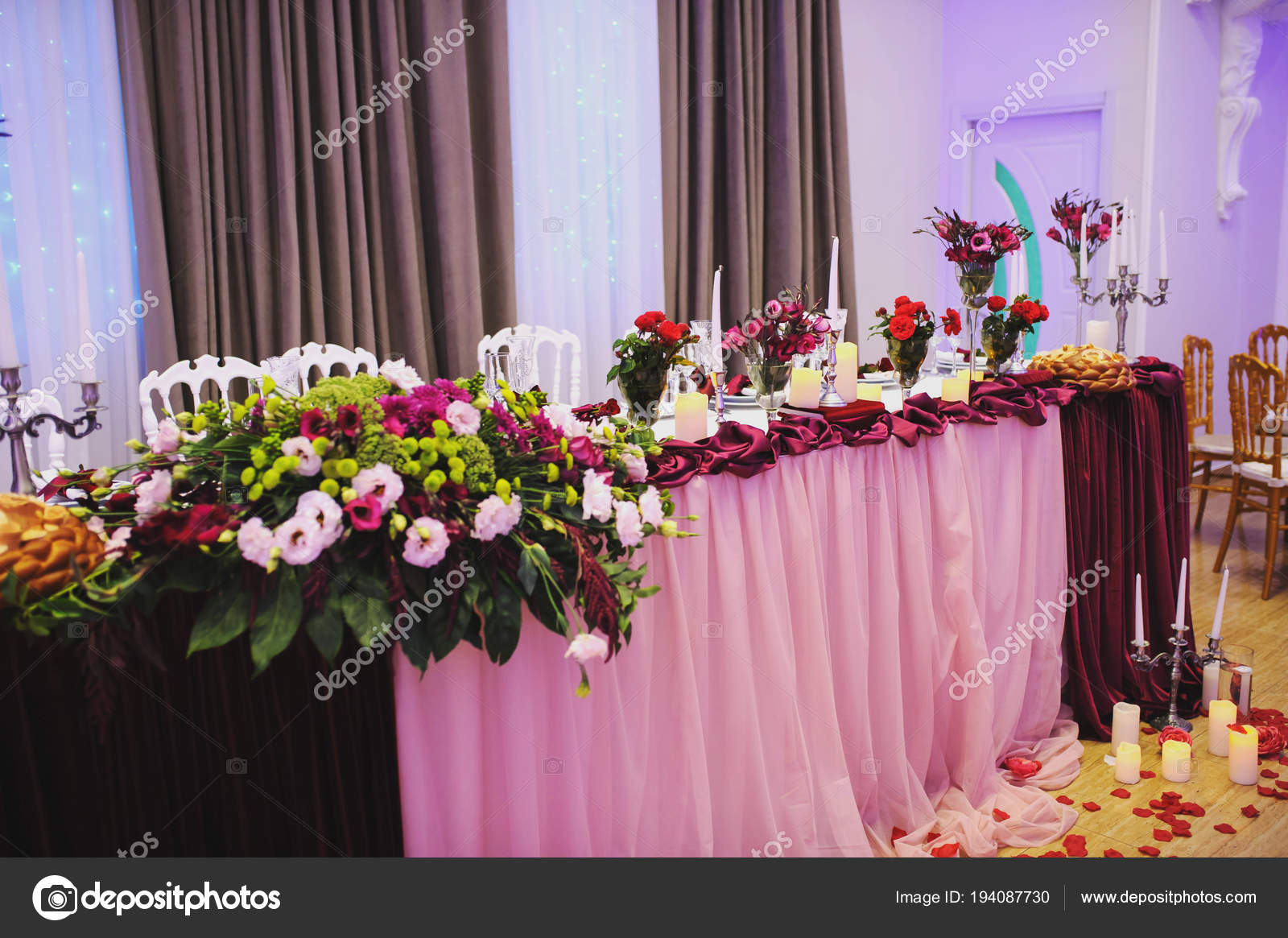 Wedding table decoration for party. — Stock Photo © Med_Photo_Studio ...