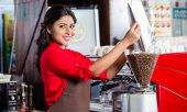 Fotografie indische Barista-Kaffeemühle