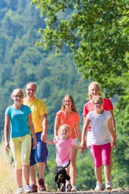 Family having walk
