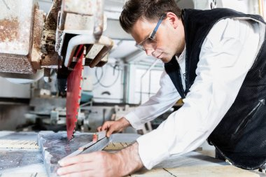 Craftsman measuring stone plate