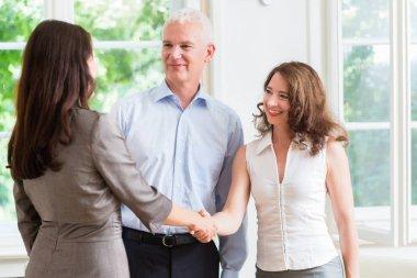 Business people doing handshake