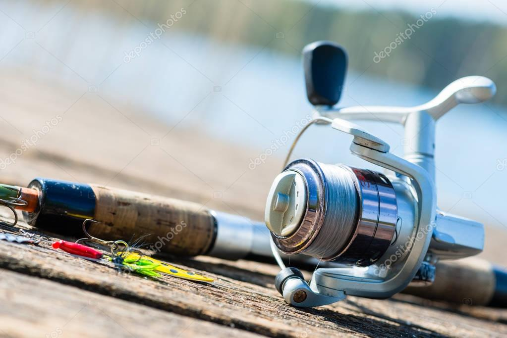 fishing rod on jetty