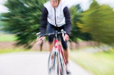 Sport Bicyclist on bike