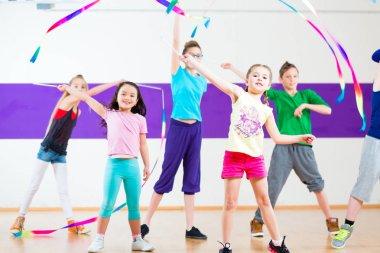 Kids in dancing class