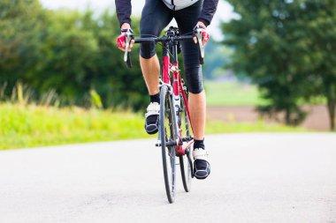Cyclist on race bike