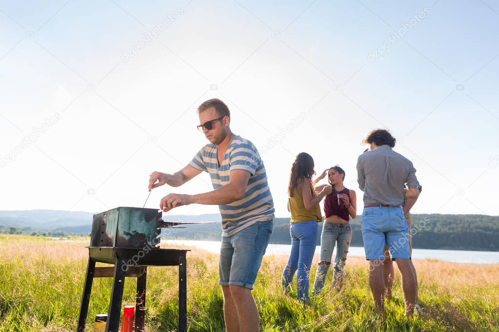 people having summer barbecue