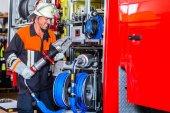 Hasič Kontrola hydraulických fréz v hasičském