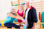 Senior na rehabilitaci ve fyzikální terapii