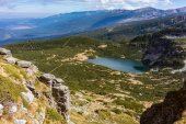 View on the seven Rila lake region in the bulgarian mountains