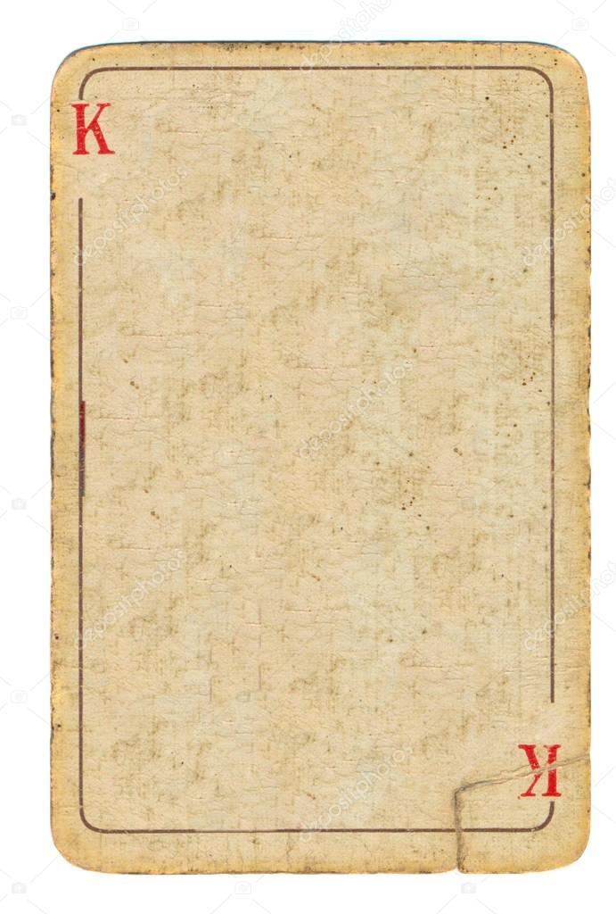 leere alte Spielkarte Papierhintergrund mit Linie — Stockfoto ...