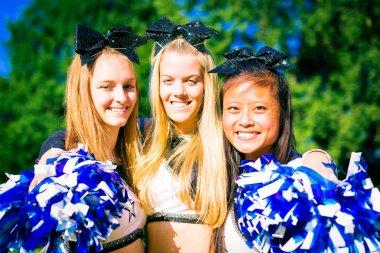 Happy Cheerleading Team