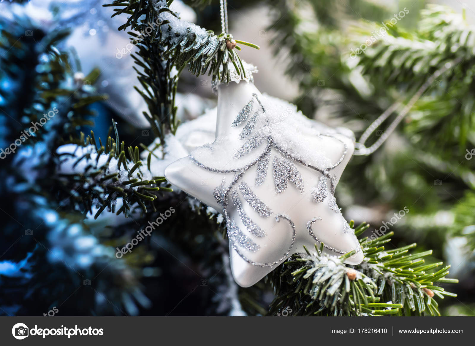 new year wallpapers star hanging on the christmas tree photo by skywet