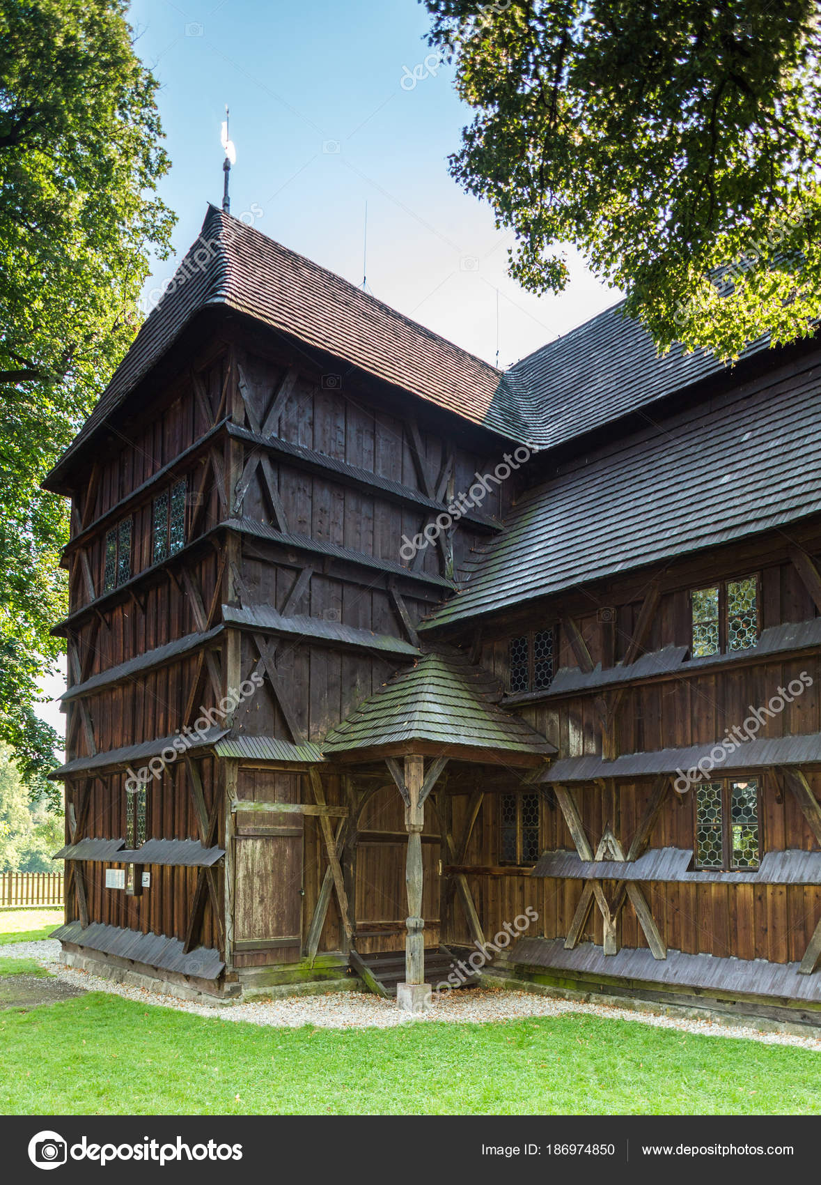 Bardejov Slovakia August 2015 Hronsek Old Fully Wooden One Five