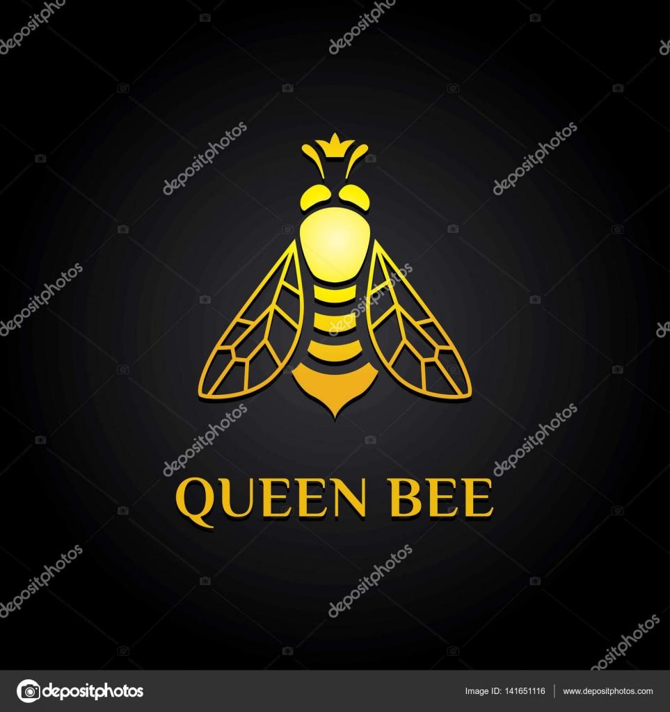 Queen Bee Black Backgroundzip Stock Vector Genka 1 141651116