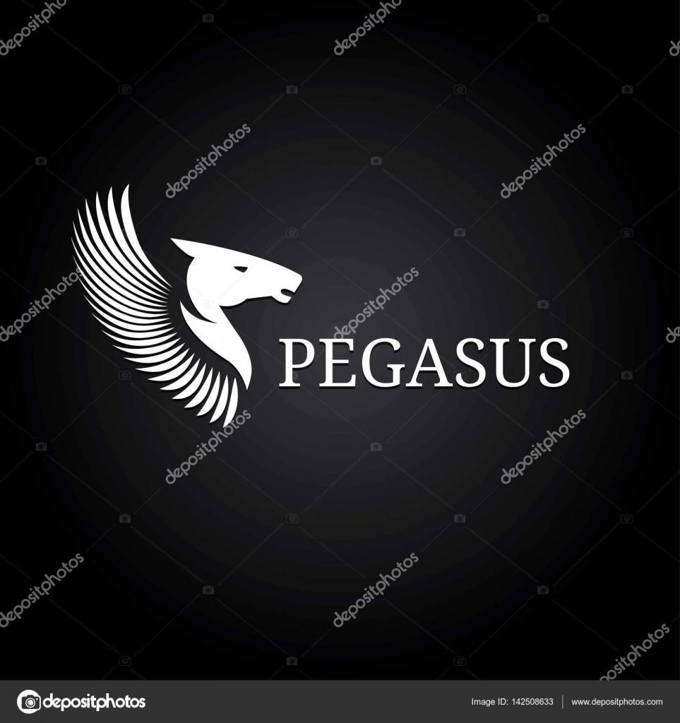 Horse Head Silhouette Logo Design Vector Template Logotype Emblem