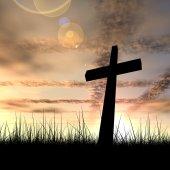 Fotografie konzeptionelle schwarzen Kreuz