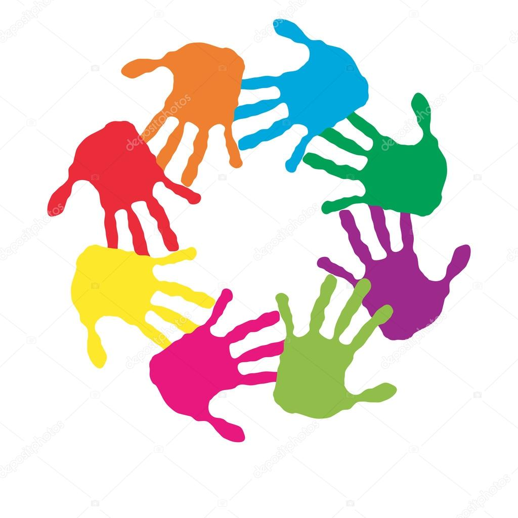 circle made of painted hands stock photo design36 126565934