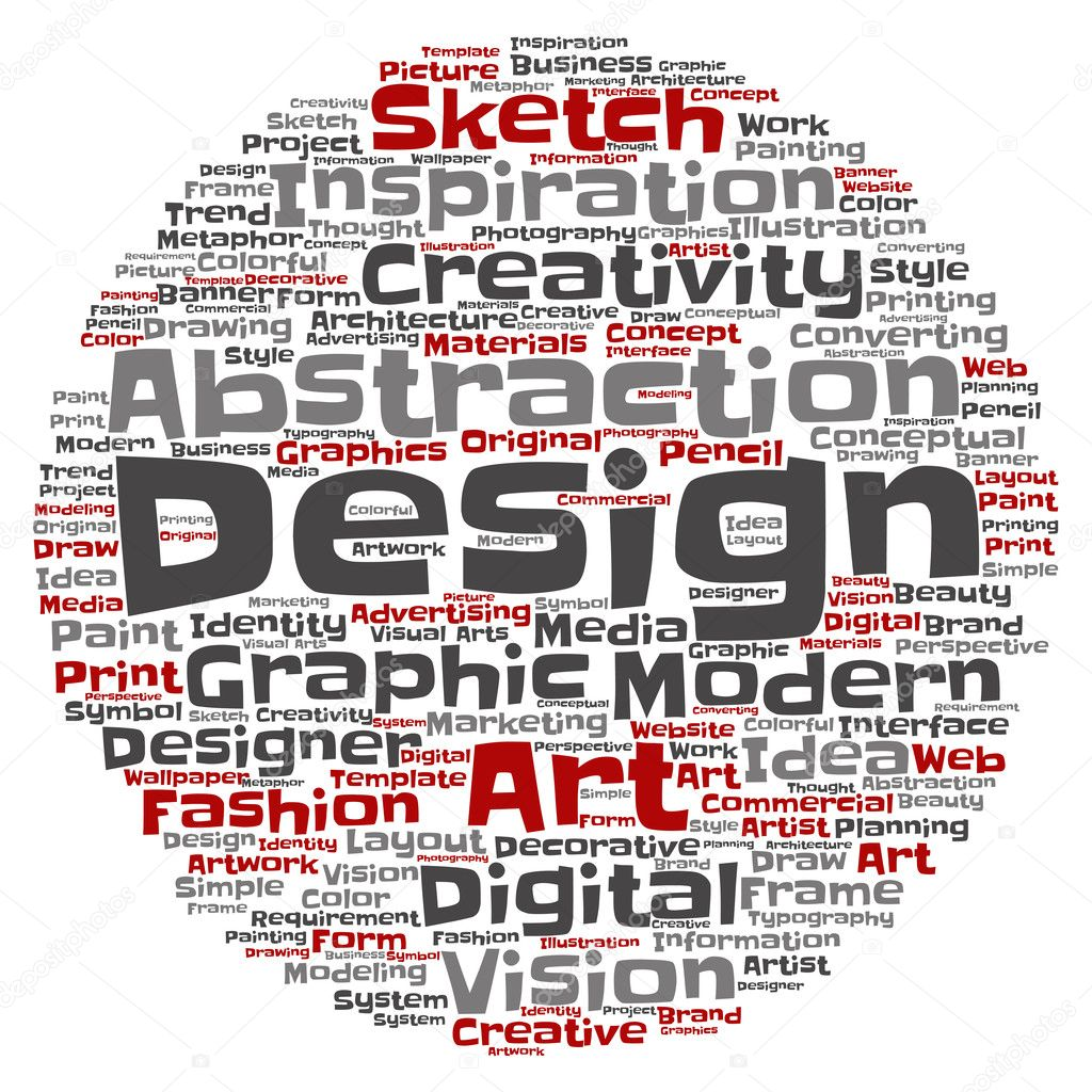Art Graphic Design Word Cloud Stock Photo C Design36