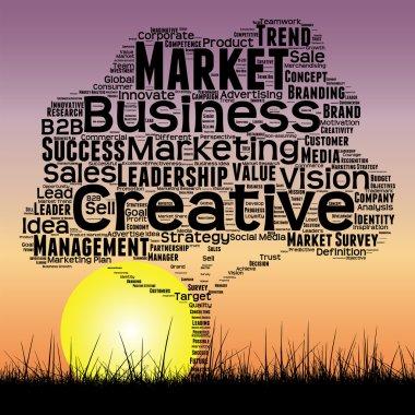 media business  word cloud