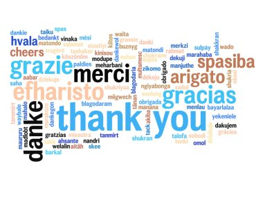 abstract thank you word cloud