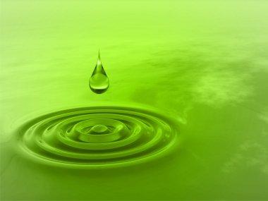 drop falling in water