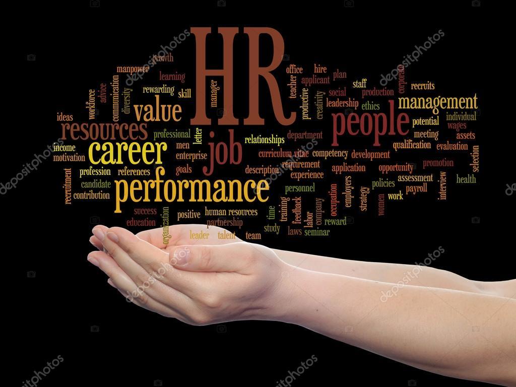 nube de word de gestión de recursos humanos — Fotos de Stock ...