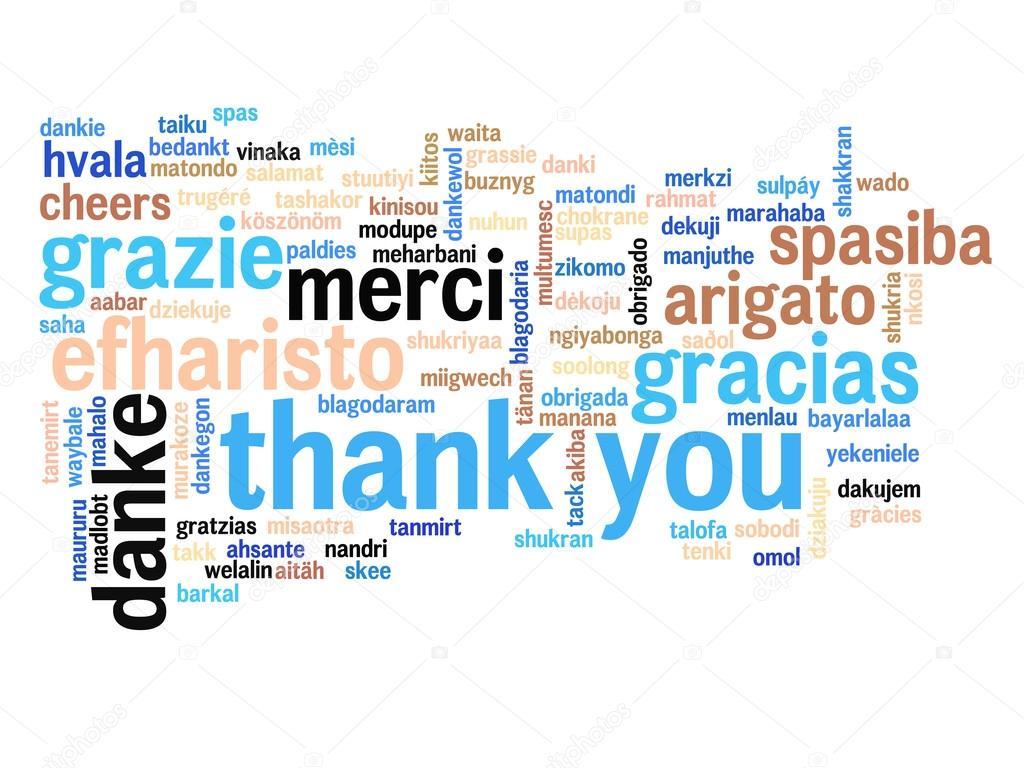 Nube de palabra de Resumen gracias — Foto de stock © design36 #126572922