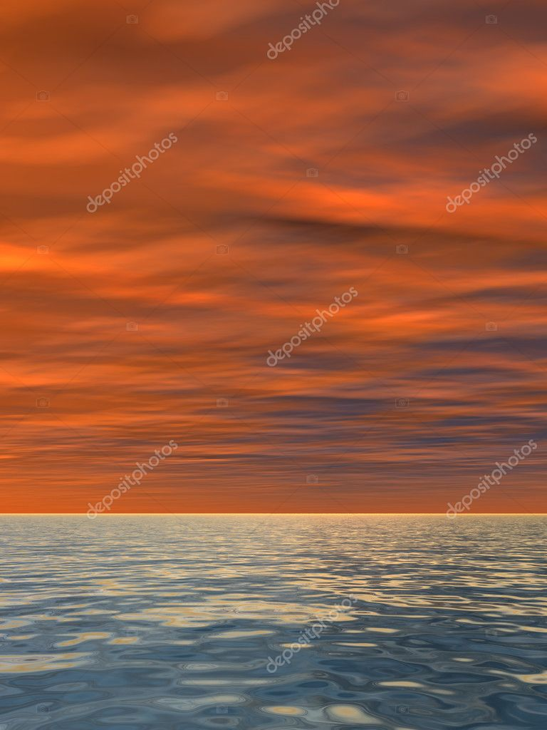 seascape with water and waves