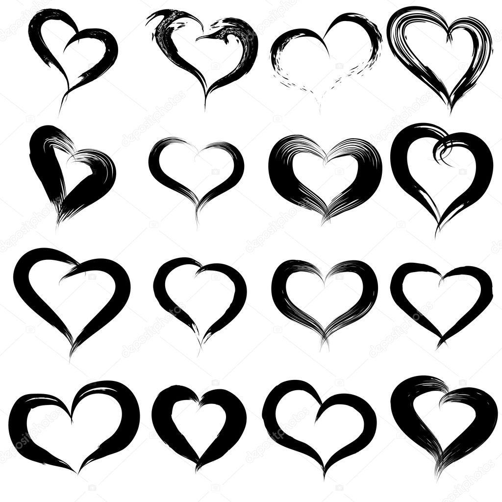 Heart Shapes Or Love Symbols Set Stock Photo Design36 126574748