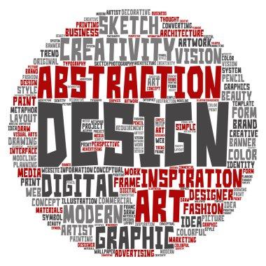 art graphic design word cloud