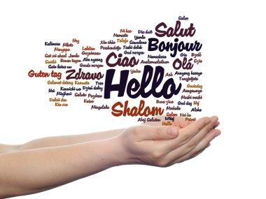 greeting international words cloud