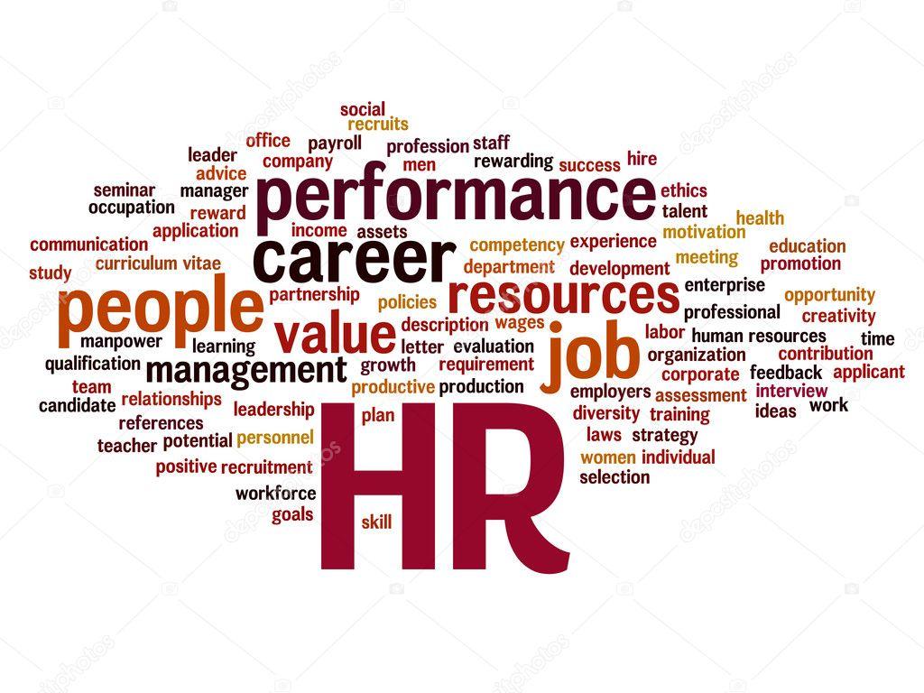nube de word de gestión de recursos humanos — Foto de stock ...