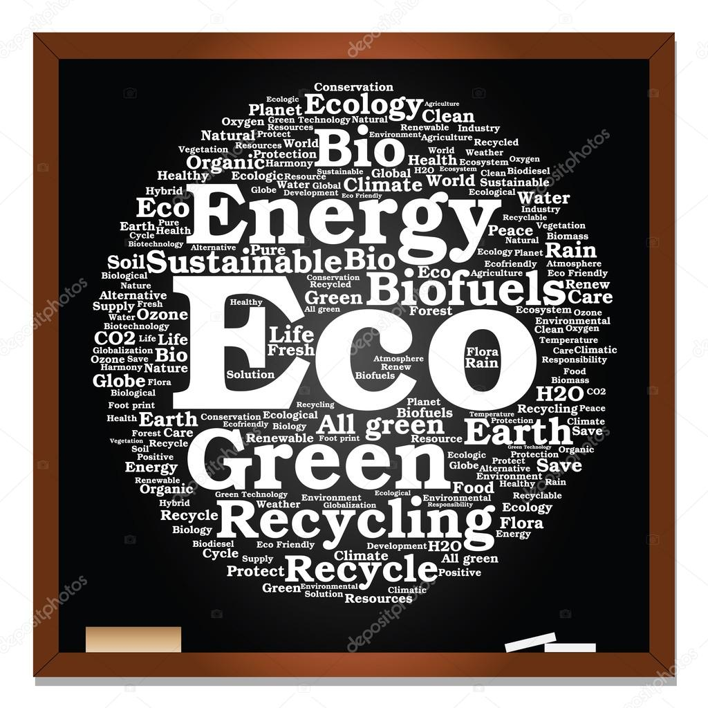 ecology, conservation word cloud text