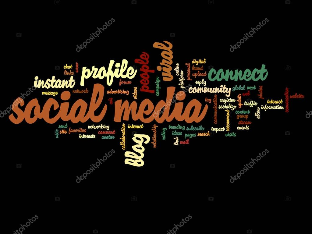 Social media word cloud — Stock Photo © design36 #129328706