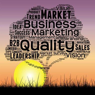 black media business word cloud