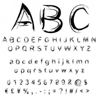 sketch  scribble paint font