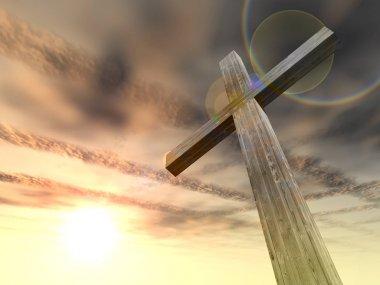 conceptual wood cross