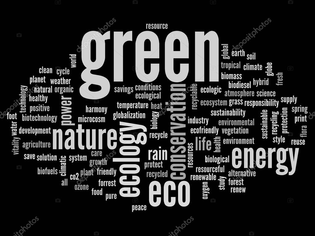 ecology and conservation word cloud
